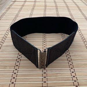 🌻Black Belt Leather Women Size XSS